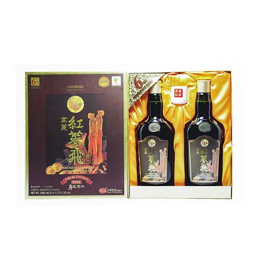Nước hồng sâm KGS Antler Gold nhung linh chi hộp 2 chai x 750ml