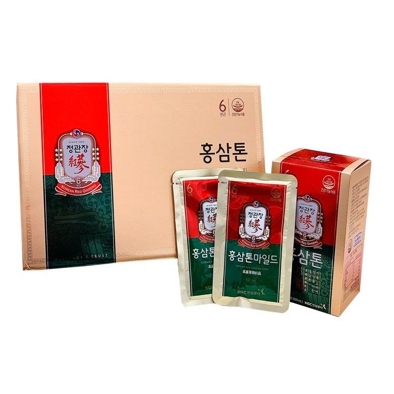 Nước hồng sâm KGC Tonic Mild hộp 30 gói x 50ml