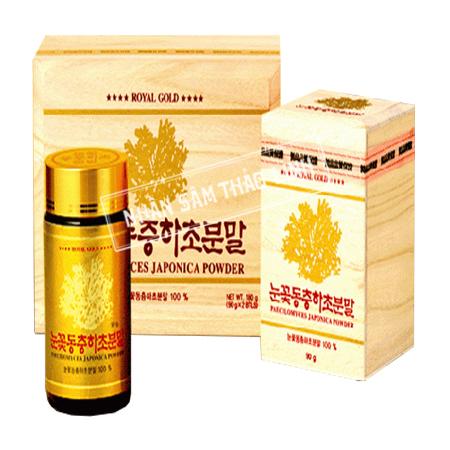 Bột đông trùng hạ thảo KGS Royal Gold hộp gỗ 2 lọ x 90gr