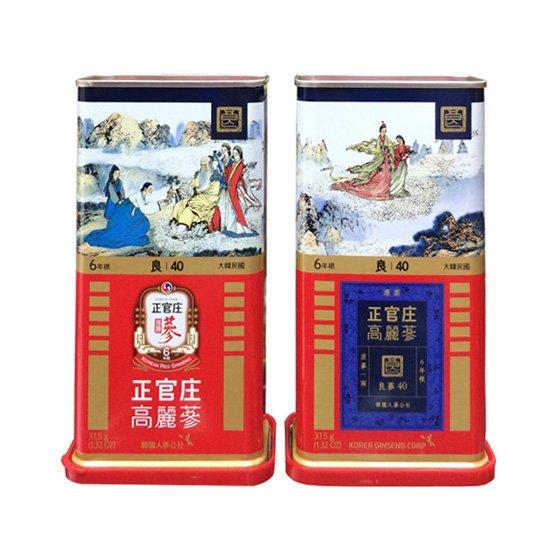 Sâm củ khô hộp thiếc KGC 37,5g 3 củ số 40 hồng sâm Chính phủ Cheong Kwan Jang