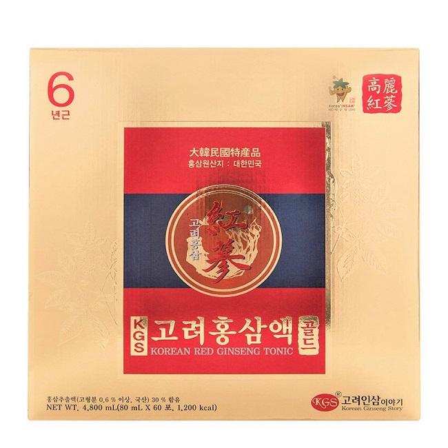 Nước hồng sâm KGS Red Tonic 60 gói x 80ml