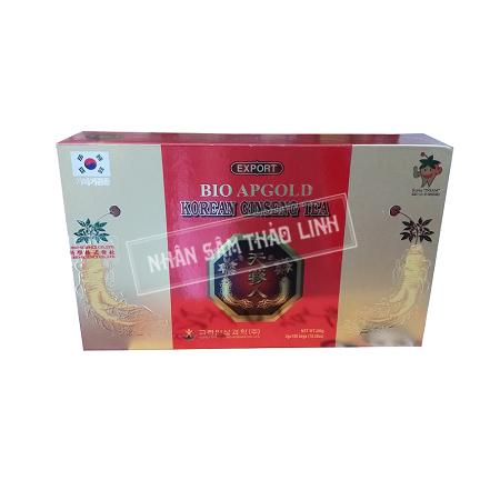 Trà hồng sâm Bio Apgold hộp 100 gói