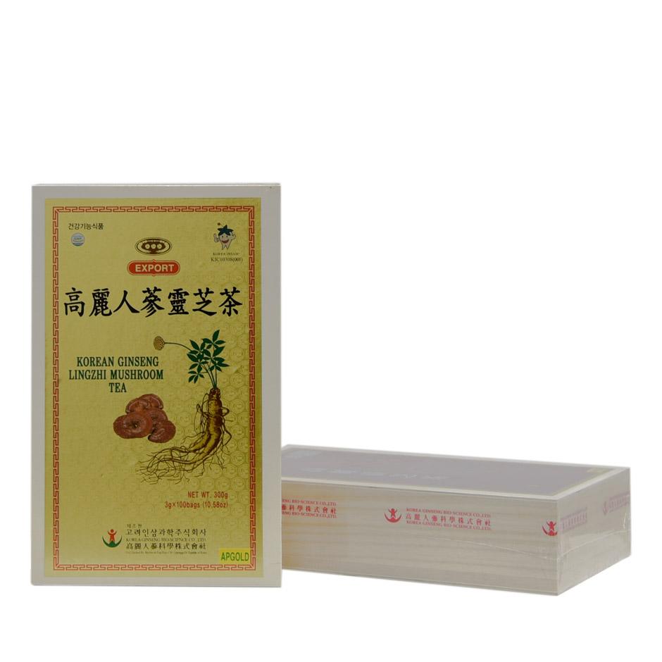 Trà hồng sâm linh chi Bio Apgold hộp 100 gói