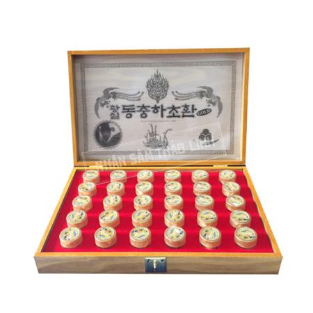 Viên đông trùng hạ thảo Kang Hwa hộp gỗ vàng 30 viên