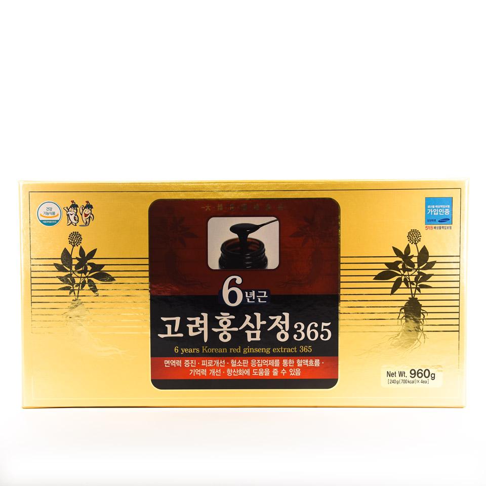 Cao hồng sâm 365 hàn quốc hộp 4 lọ 960gr - Nhansamthaolinh.com