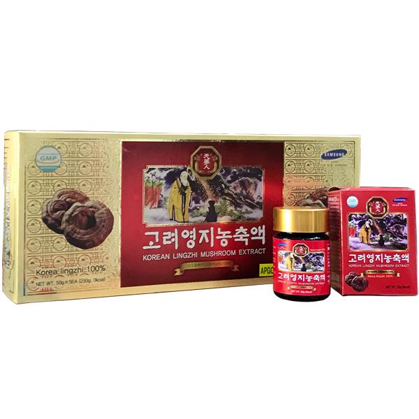 Cao linh chi đỏ Bio Apgold Hàn Quốc hộp 5 lọ x 50gr
