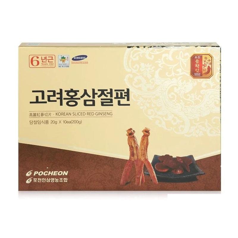 Sâm lát tẩm mật ong Pocheon hộp 10 gói x 20gr