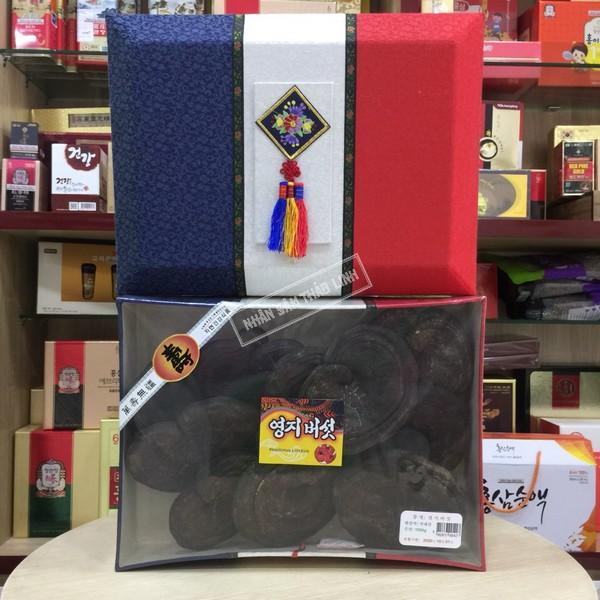 Nấm hắc linh chi Hàn Quốc thượng hạng hộp quà biếu 1 kg