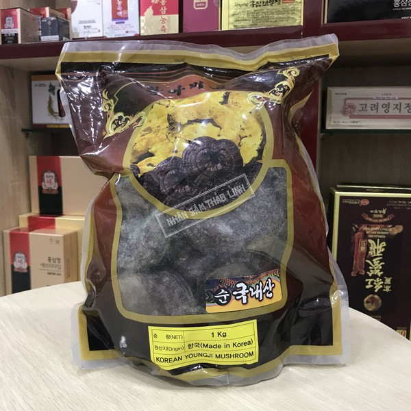 Nấm linh chi núi đá đỏ thiên nhiên Hàn Quốc cao cấp bịch 1 kg