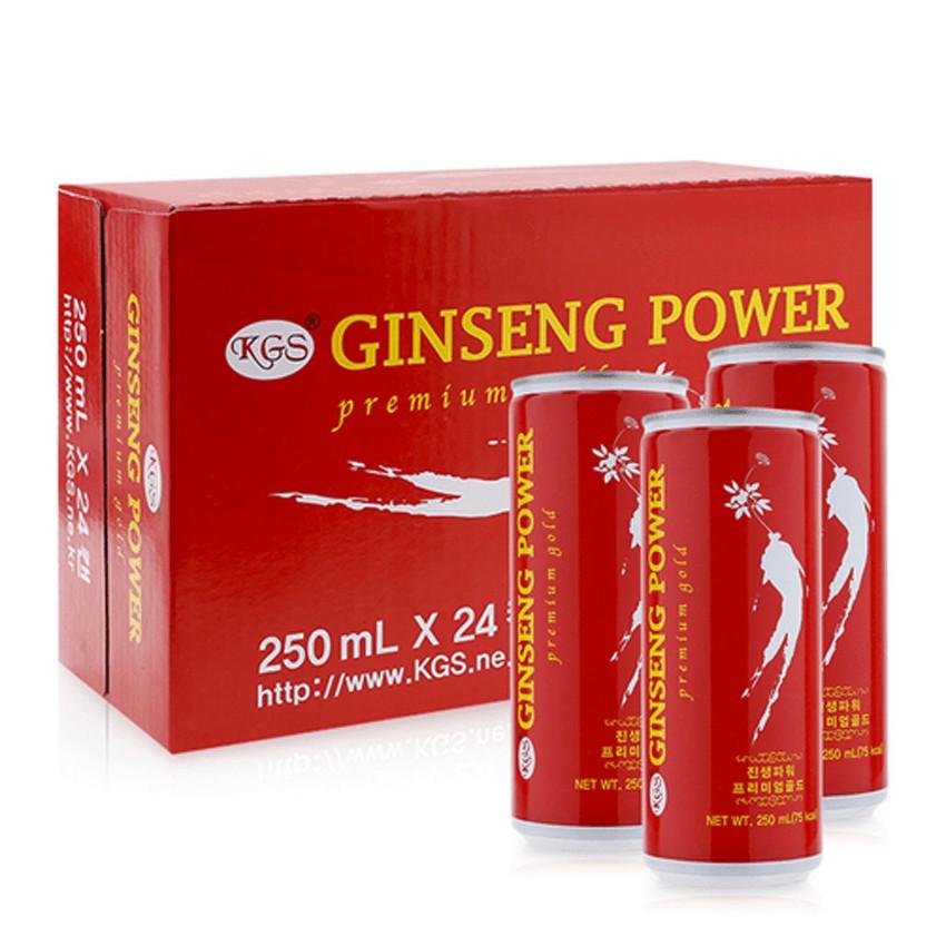 Nước hồng sâm KGS Ginseng Power thùng 24 lon x 250ml