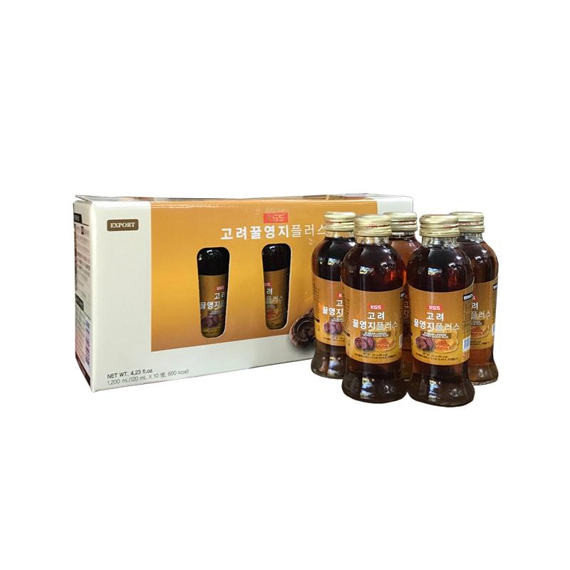 Nước linh chi KGS mật ong hộp 10 chai x 120ml