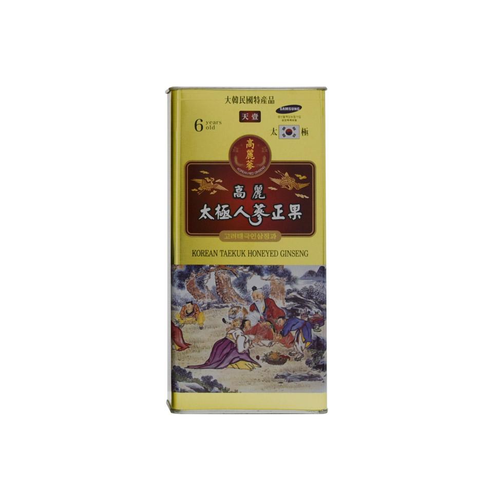 Thái cực sâm củ tẩm mật ong Daedong hộp thiếc 300 gram 7 củ