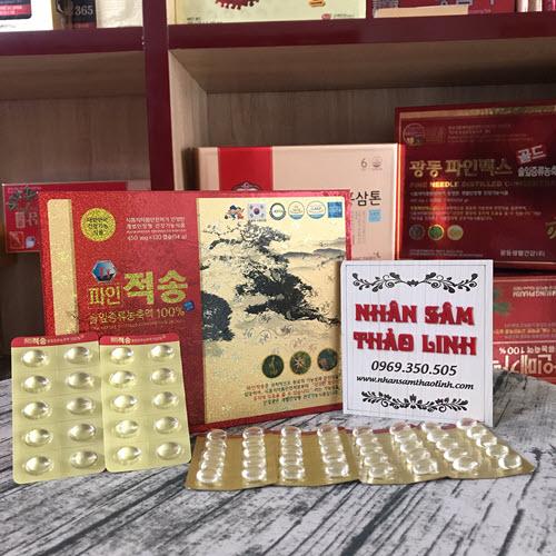 Pine Jeok Song Gold tinh dầu thông đỏ chính phủ hàng du lịch hàn quốc 120 viên