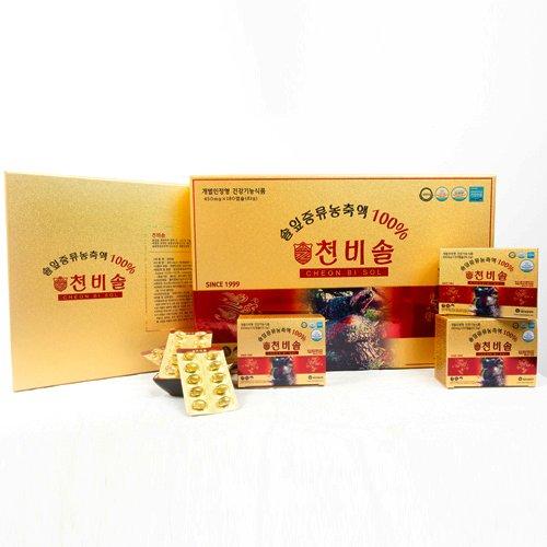 Tinh dầu thông đỏ hàn quốc cao cấp Cheon Bi Sol hộp 180 viên