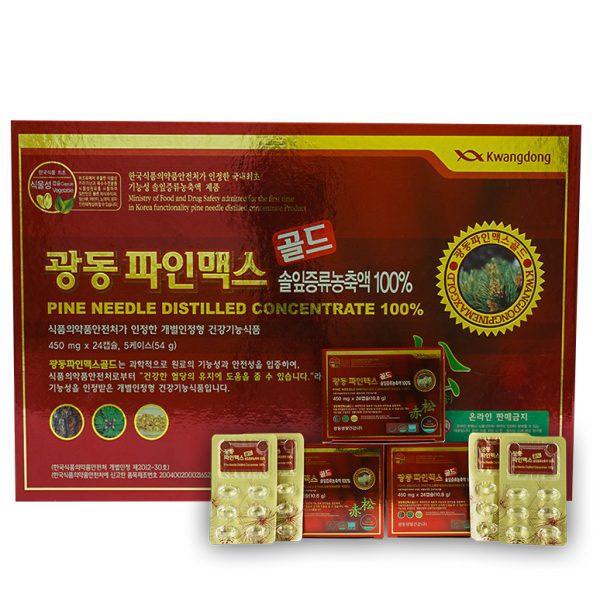 Viên tinh dầu thông đỏ Kwangdong hộp 120 viên