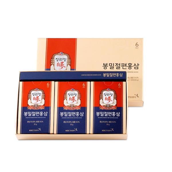 Sâm lát tẩm mật ong KGC - Cheong Kwan Jang hộp 6 gói x 20gr