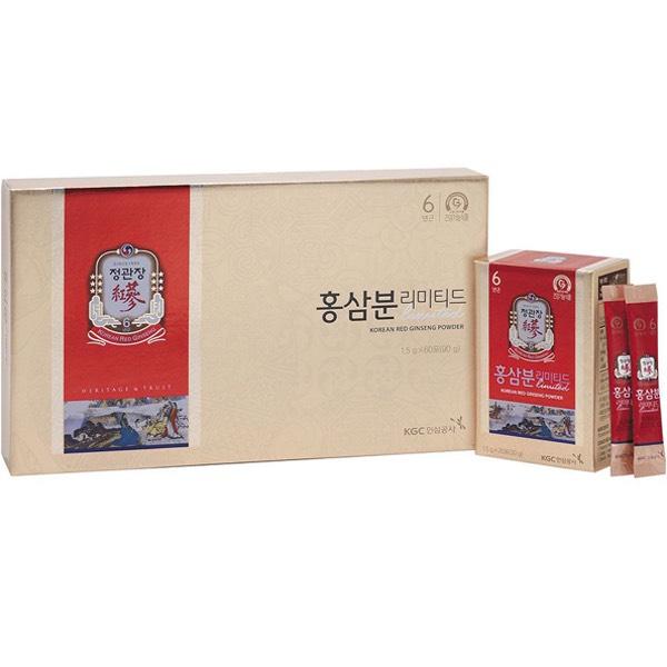 Bột Hồng Sâm KGC - Cheong Kwan Jang Limited hộp 60 gói x 1.5gr