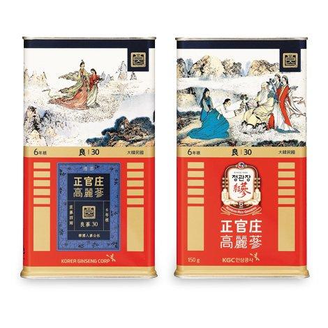Sâm củ khô hộp thiếc KGC 150g 10 củ số 30 hồng sâm Chính phủ Cheong Kwan Jang