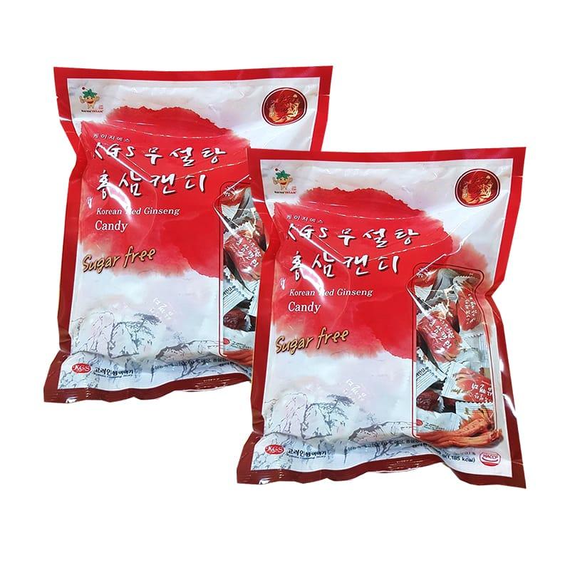 Kẹo hồng sâm KGS Sugar Free  không đường bịch 300gr