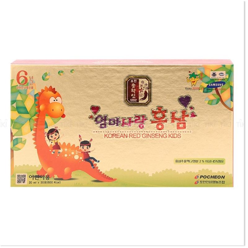 Nước hồng sâm baby Pocheon hộp 30 gói x 20ml